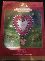 Hallmark Keepsake Ornament 2001 Sisters Photo Holder Brand New In Box - $9.99