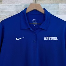 Nike Dri Fit University Florida Gators Polo Shirt Blue Long Sleeve Women... - $34.64