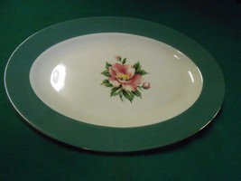 "HOMER LAUGHLIN USA ""Empire Green"" Dinnerware- Large OVAL PLATTER - $13.57"
