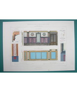 ARCHITECTURE PRINT COLOR : PARIS Design for a Villa Vestibule - $13.49