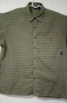 Patagonia Men's Green L short-sleeve button-down plaid Breast Pocket shirt image 9
