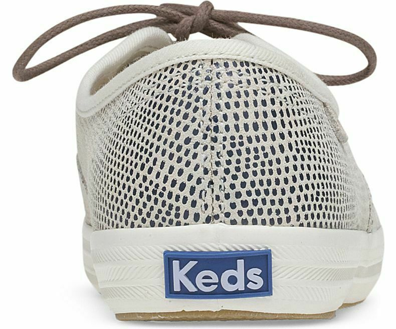 Keds WH58934 Women's Shoes Champion Dalmata Leather Blue, 7 Med