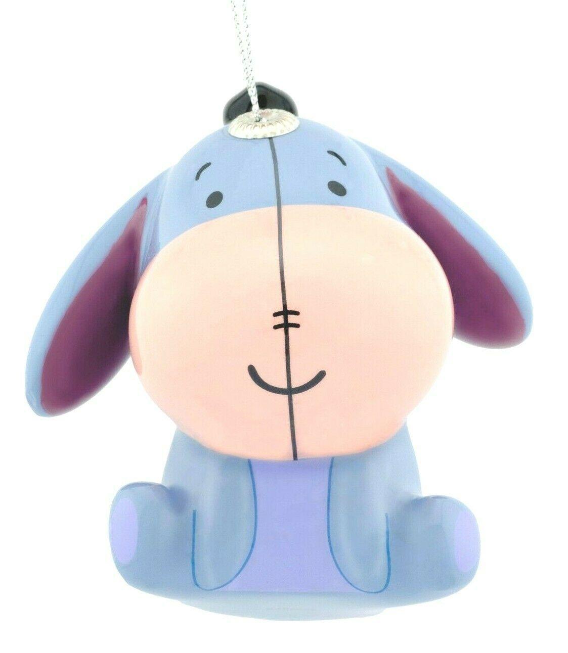 Hallmark Disney Winnie the Pooh Eeyore Decoupage Shatterproof Christmas Ornament