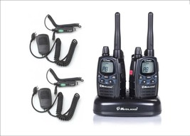 MIDLAND G7 PRO  WITH 2 SPEAKER MICS + 2 CAR CHARGER  RANGE 25 KM SPECIAL... - $145.78