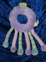Koala Baby Purple Stuffed Plush Baby Circle Ring Monster Alien Rattle Toy 6 Legs - $24.74