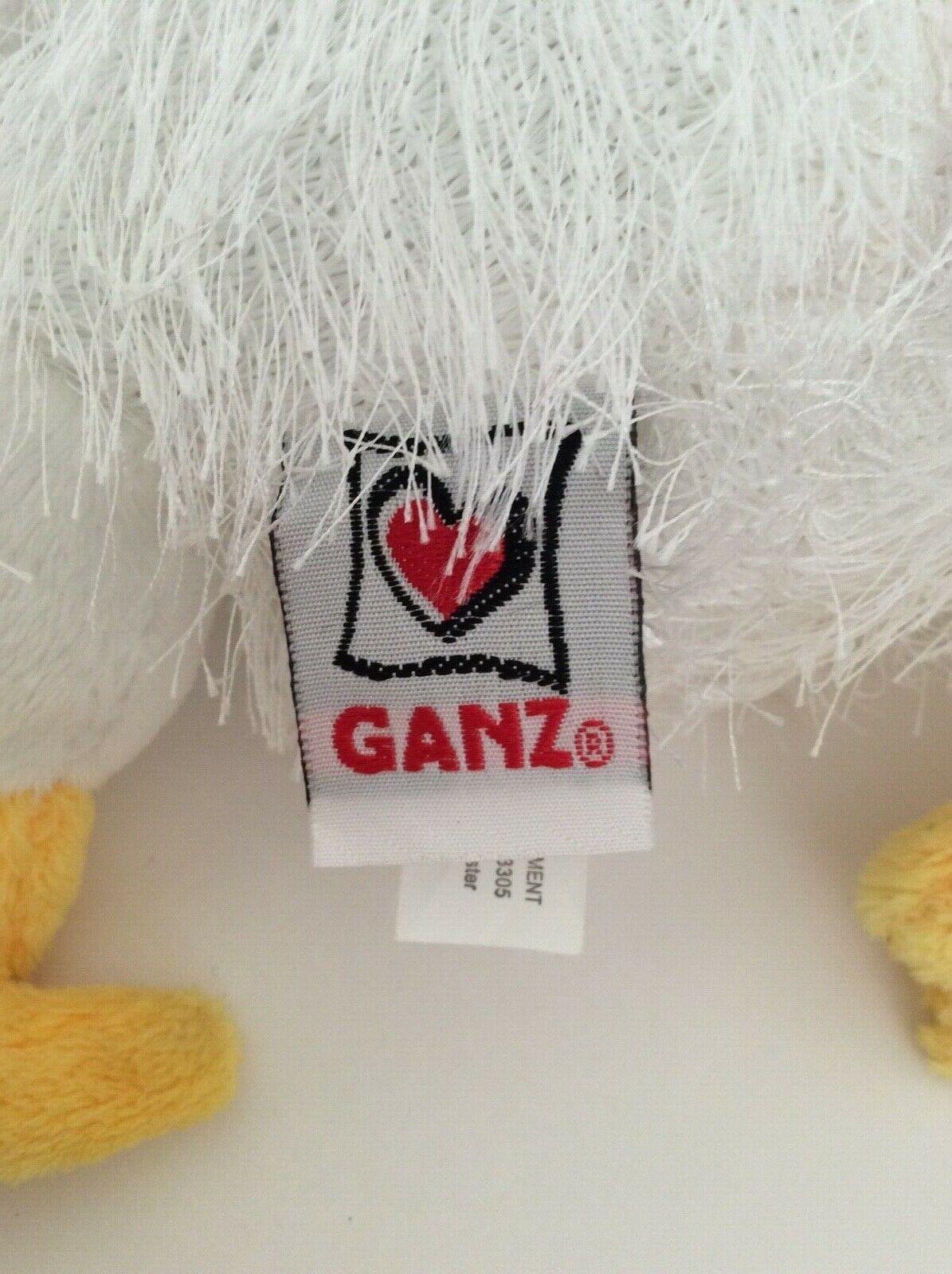 """Ganz WEBKINZ white yellow red CHICKEN 10"""" NEW UNUSED CODE plush stuffed animal"""