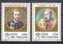 1996 Pope Celestine V Set of 2 Vatican Postage Stamps Catalog Number 1020-21 MNH