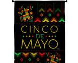 Serape Cinco de Mayo Burlap - Impressions Decorative Metal Wall Hanger Garden Fl