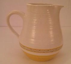"Franciscan Hacienda Creamer Pitcher Earthenware Gold 6.25"" Vintage Stoneware Jug - $22.55"