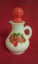 AVON Vintage *Strawberry* Milk Glass Cruet~Empty - VGC - $1.99