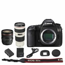 Canon EOS 5DS DSLR Camera Body + EF 24-70mm f/4L IS USM + 70-200mm f/4L Lens - $2,558.95