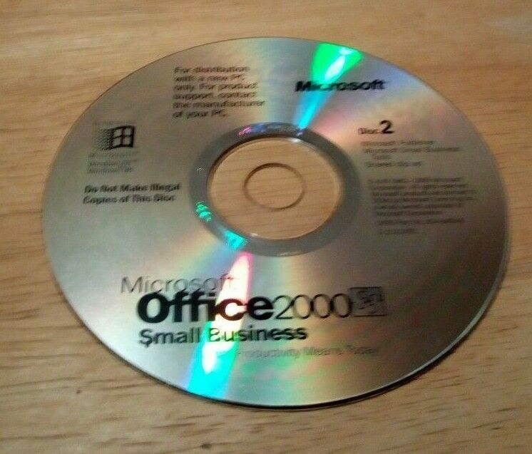 Microsoft Office 2000 Small Business CD - Disc 2
