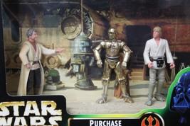 PURCHASE OF DROIDS PLAYSET Star Wars Uncle Owen Lars C3PO Luke 69778 POT... - $29.65