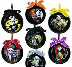 Tim Burton's Nightmare Before Christmas 7 Ornaments Set New Box Sealed Disney - $108.89