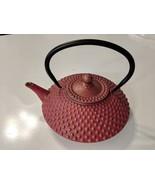 Japanese or Chinese Teapot 24 Fl Oz Pink Dot Hobnail Teapot EUC - $18.49