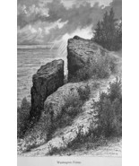 WASHINGTON ROCK in New Jersey  - 1883 German Print - $21.60