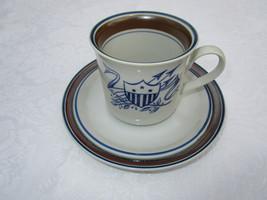 Vintage Salem Georgetown Stoneware Cup/Saucer Patriotic ~Shield - $9.28