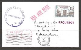 1983 Paquebot Cover, France stamp used in Hampton Roads, Virginia (10 Jun) - $5.00