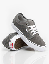 VANS CHUKKA LOW CHECKERS GREY WHITE SZ MENS 7.5 25.5 CM SHOES SKATE SK8 ... - £43.12 GBP
