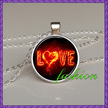 LOVE quote pendants quote gift lovers red - $15.99+