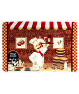 FAT WINE CHEF PLACEMATS Set of 4 Bistro Cafe Cook Vinyl Red NEW - $14.99