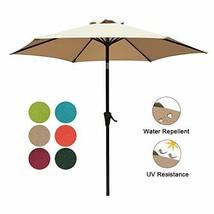 COBANA 7.5 ft Patio Umbrella Outdoor Table Market Umbrella with Push But... - £30.64 GBP