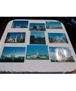 SET OF 9 COLOR LDS MORMON TEMPLE PORTRAIT PHOTOS PICTURES 8 X 10 LIST IN... - £3.91 GBP