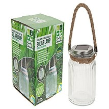 Large Rope Handle Glass Jar Solar Light, Garden Light, Solar Light #eji - $21.49