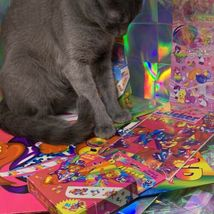 $22UPS1Day/$6USPS LISA FRANK Easter Puzzle Sealed stickers Rollouts Stamp Kitty image 5
