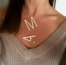 New Minimalist Gold Rose Gold Silver Color 26 A-Z Letter Name Initial Necklaces  - $4.99
