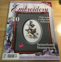 Embroidery & Cross Stitch 75th Issue Collector's Issue - $8.59