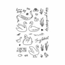 Hero Arts CM230 Stamps Swans & Cattails Multicolor - $16.99
