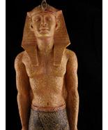 "17"" King Tut Statue - art deco sculpture - faux stone Pharaoh statue - e... - $125.00"