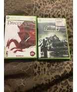 Fallout 3 -- Game of the Year Edition And Dragon Age  Xbox 360, 2009) - $9.50