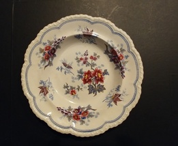 #7364-----c. 1833 JWR Ridgway plate Stone China -- Japan Flowers - $70.00