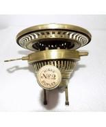 Superb Victorian Hinks No.2 Duplex Kerosene oil  lamp Burner Brass clean... - $114.75