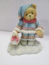 "Enesco 1994 Cherished Teddies Ingrid ""Bundled-Up With Warm Wishes"" figurine - $4.90"