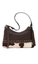 American West- Wild Horses Zip Top Shoulder Bag (Pony Hair-on) - $264.00