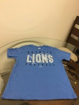 Detroit Lions Football Blue NFL Team Apparel T-Shirt Medium Good Condition - $10.93
