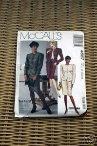 Primary image for McCall's Pattern 4587 Misses Lined Jacket, Top and Skirt 6 8 10