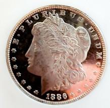 1886 RAW  MORGAN SILVER DOLLAR STRONG DMPL ULTRA CAMEO.  - $220.50