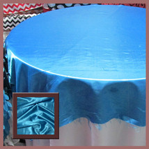 10 Pcs. Tablecloth Round 108 Satin For 5 Feet t... - $103.79