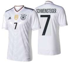 Adidas B. Schweinsteiger Germany Home Jersey Fifa Confederations Cup 2017 White - $135.00