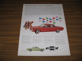 1960 Print Ad The '60 Chevrolet Corvair 700 4-Door Sedan Red & Club Coup... - $15.41