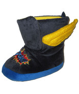 OshKosh Super Hero Slippers sz S 5/6 toddler blue plush winged boots comics - $10.00