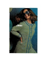 1960s Collarless Swiss Check Coat with Cord Trim - Knit pattern (PDF 6948) - $3.75