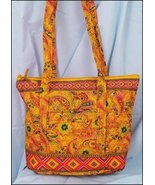Nacho Orange Laura Quilted Tote Organizer bag 1... - $25.00
