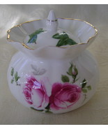Jubilee Rose Pattern, Bone China, Jam Jar - $25.00