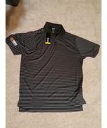 Mens Adidas ClimaLite LGE Polo Casual Black White Stripes Short Sleeve C... - $24.99