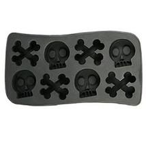 Gothic Novelty SKULL CROSSBONES ICE CUBE TRAY Jello Mold Pirate Birthday... - $4.92